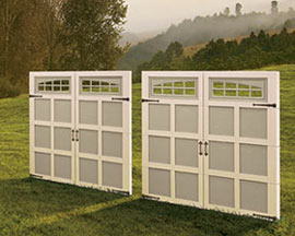 Our Courtyard Garage Door Offers Elegant Wood Design and Energy Efficiency