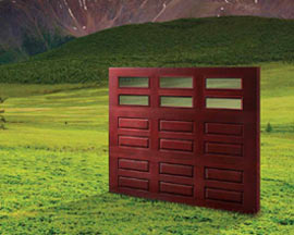 The Impression Collection Features Wood-Grain Fiberglass Garage Doors-Contact Us Today for an Estimate